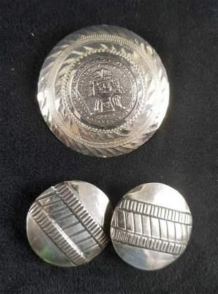 Sterling Silver Cultura Zapoteca Tribal Pin Pendant and