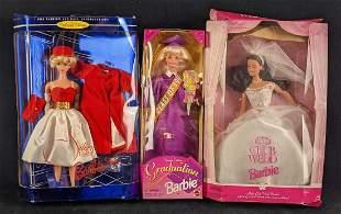 Graduation Club Wedd And Silken Flame Barbie Dolls