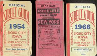 Vintage Offical Street Guides Iowa New York