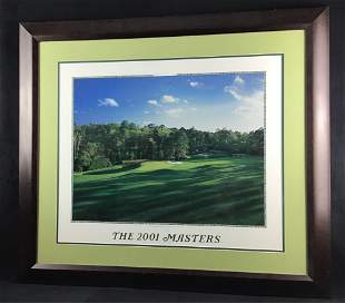 Tiger Woods 2001 Masters Augusta Golf Tournament Poster