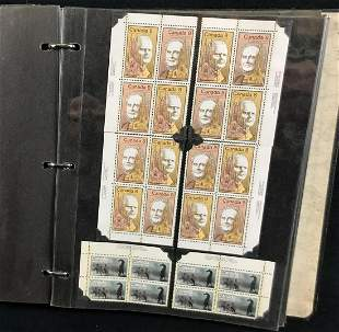 Large Collection Uncut Unhinged Canada Stamps A