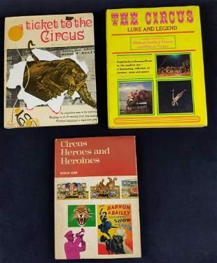 Vintage Circus Hardcover Books Lot Of Three