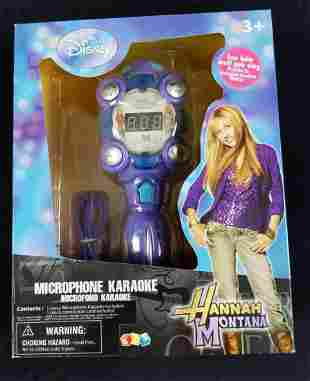 Rare Disney Hannah Montana Microphone Karaoke