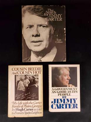 President Jimmy And Hugh Carter Book Lot Of Three A