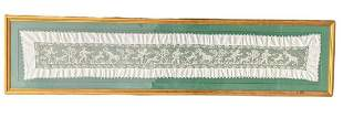 Framed Cotton Handmade Crochet Lace Table Runner The