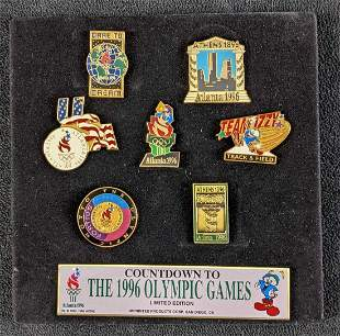 Countdown To The 1996 Olympic Games Pin Set Collection