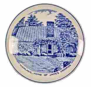 Old English Staffordshire Ware Trinket Box James Monroe