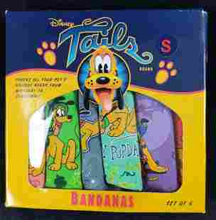 Six Disney Tails Pluto Pet Small Bandanas