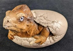 Vintage Windstone Edition Baby Egg Hatching Triceratops