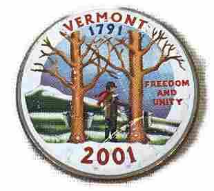 Unique Painted Collectible Coin Vermont