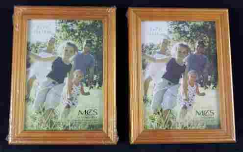 2 MCS Solid Wood Picture Frames Honey Oak 5 x 7