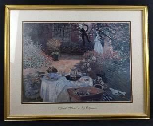 Framed Claude Monet The Luncheon Le Dejeuner Print