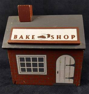 Bake Shop Wooden Recipe Box With Blank Cards