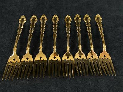 Vintage Community Gold Electroplated Salad Forks