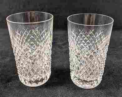 Waterford Crystal Two Alana Tumbler Glasses