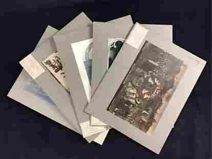 Lot of 5 Flemish Art History Prints