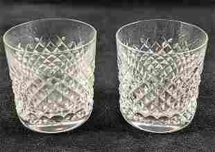 2 Waterford Crystal Alana Small Tumbler Glasses