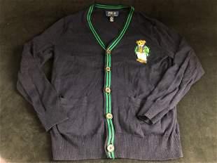 Vintage Polo Ralph Lauren Boys Yale Bear Knit Cotton V
