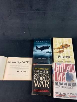 Lot 5 Vintage Military Aviation Books