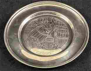 Six LE American Craftsman Collection Pewter Plates