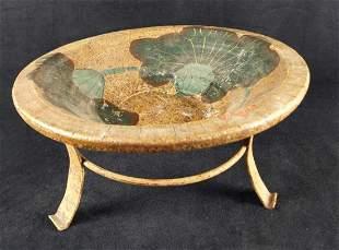Vintage Style Ceramic Floral Design Bowl W Stand