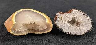 Two Crystal Geodes Specimens