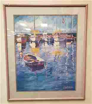 Boat Painting Print