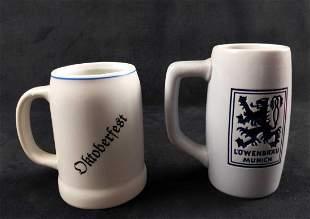 German Oktoberfest Porcelain Steins Lot Of Two