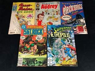 Vintage Lot of 5 Comics Little Audrey - SGT Rock -Hanna