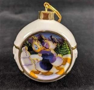 Disney Porcelain Donald Duck Christmas Ornament