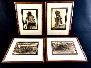 Set of (4) Industrial Themed Photographs Mid Century