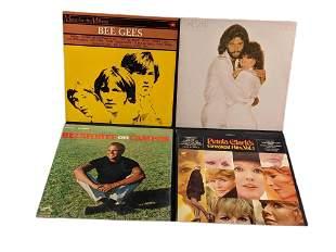 4 Vinyl LP Records Belafonte Petula Clark Streisand Bee