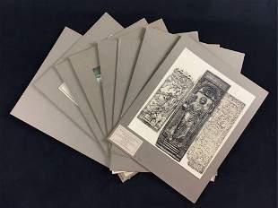 Lot of 8 Art History Byzantine Prints Bristish Museum