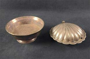Silverplate Candy Dish And Caviar Dish