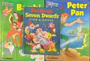Three Vintage Disney Animated Movie Storybooks