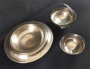 Vintage Silver Plate Bowls Lot Of Three