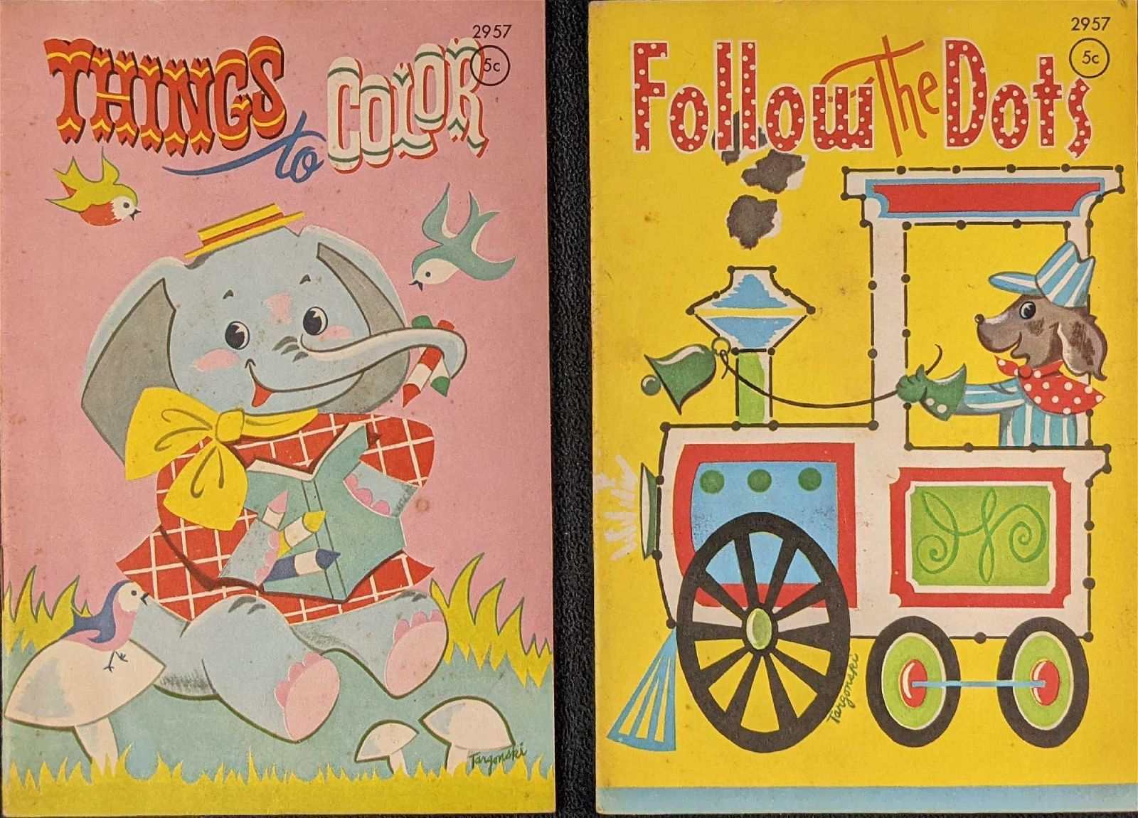 Vintage Mini Coloring Book And Follow The Dot Books