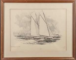 Robert James Pailthorpe Print Of The Reliance and