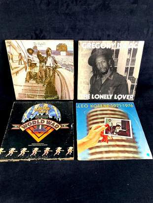 (4) Vinyl Records 1970's Era The Byrds, Gregory Isaacs,