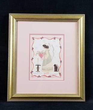 BB Richards 1988 Signed Fairy Love Print