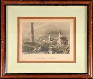 Fine Art Print Engraving Color W.H.Bartlett Framed