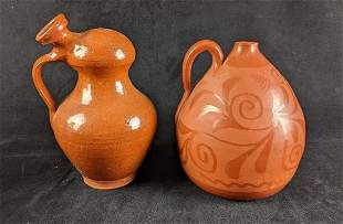 Spanish Water Jugs Botijo Terracotta Clay