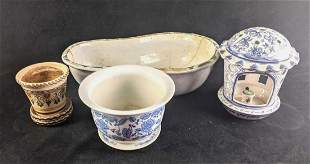 Ceramic Outdoor Decor Planter, Lantern, Birdbath