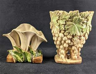 Ceramic Vases McCoy Ceramics White Lilies Grapes