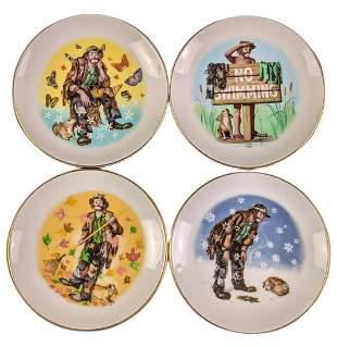 "Emmett Kelly Jr ""Four Seasons"" Mini Plates"