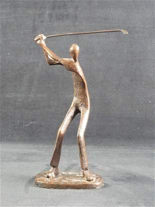 Metal Golfer Statue Trophy
