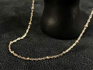 """Vintage Sterling 925 15"""" Beaded Rope Necklace"""