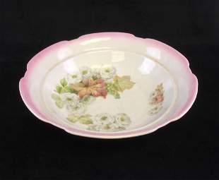 Antique Bavarian Maple Leaf Salad Bowl