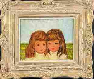 Vintage 1950s Esther Seymour Stevenson Oil Painting