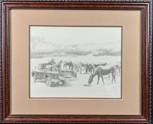 Don Greytak Limited Edition Print Kids With Horses